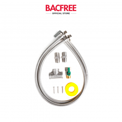 BACFREE BS8 Stainless Steel 304 Undersink Mounting Design Water Filter Water Purifiers + 8 Tall American Long Reach Spout