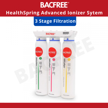 BACFREE BA7 Healthspring Alkaline Water Filter for Home Premium pH 2.7 – 10.5 (Included Installation within Klang Valley Area)