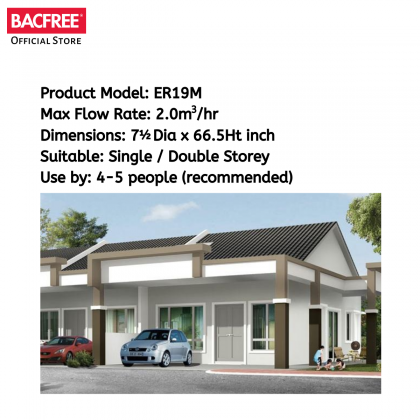 BACFREE ER19M Outdoor Filter for Home Basic with Matte Finishing (Free Installation)