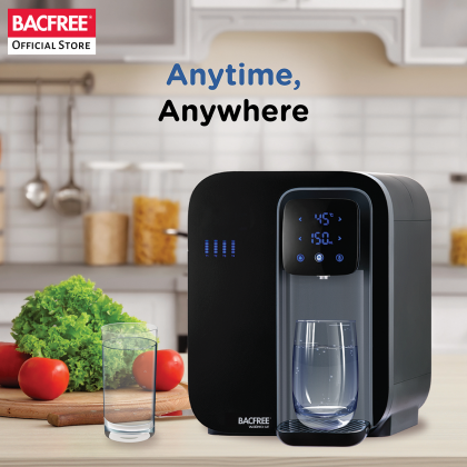 Bacfree Watero-Ultrafiltration All-in-One 5-Filtration System & Instant Hot Water Smart Water Filter Dispenser (Black)