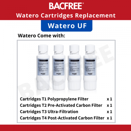 【Bundle Promo】BACFREE Watero UF All-in-One Smart Water Filter/Dispenser with Ultra Filtration Technology (Black)