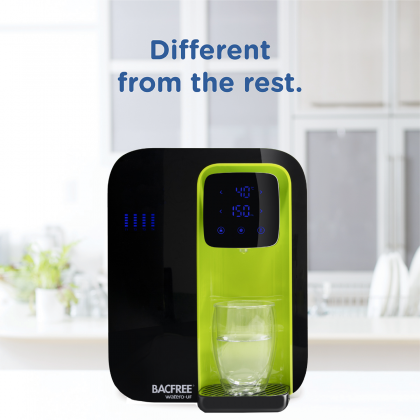Bacfree Watero-UltraFiltration All-in-One 5-Filtration System & Instant Hot Water Smart Water Filter Dispenser (Green)