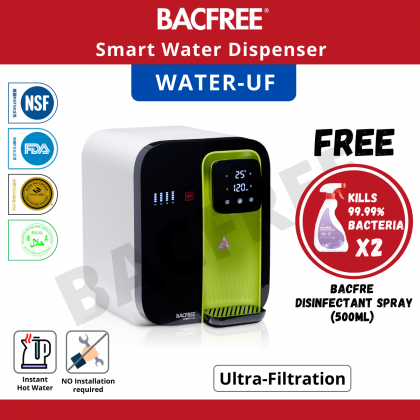 【Bundle Promo】BACFREE Watero UF All-in-One Smart Water Filter/Dispenser with Ultra Filtration Technology (Green)