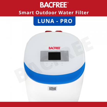 【Bundle Promo】BACFREE Luna Pro Smart System Outdoor Filter for Home with Automatic Backwash (Installation Provided for Klang Valley Area only)