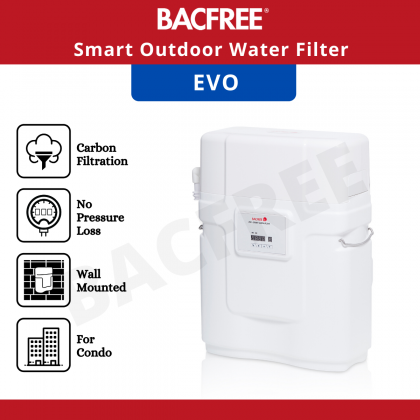 BACFREE Evo Smart System Outdoor Filter for Condo and Apartments with Automatic Backwash