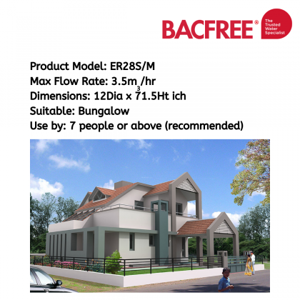 Bacfree ER19S/M AUTO Outdoor Filter for Home with Automatic Backwash(Included Installation within Klang Valley Area)