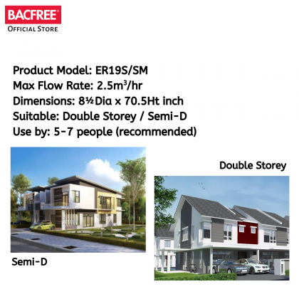 BACFREE ER19SM-Auto Outdoor Filter for Home with Automatic Backwash (Free Installation within Klang Valley & Seremban Area)