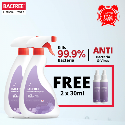 【Special Offer】BACFREE 500ml Multi-Purpose Surface Sanitizer & Disinfectant Spray Kills 99.9% Bacteria [Buy 1 Free 1]